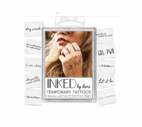 INKED by Dani Expression Temporary Tattoo Packs Perspective: front
