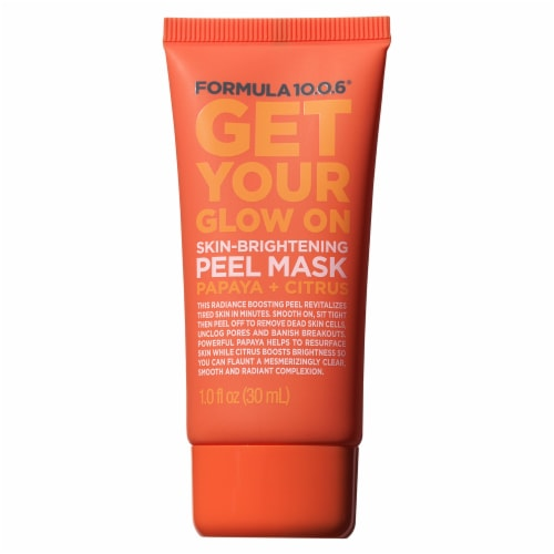 Formula 10.0.6 Get Your Glow On Skin-Brightening Peel Mask Perspective: front