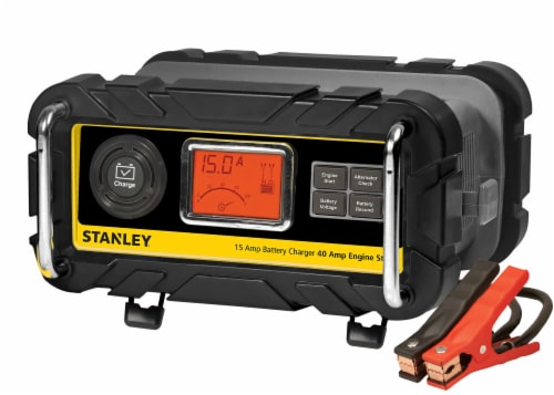 Stanley® 15-Amp Battery Charger with 40-Amp Engine Starter Perspective: front