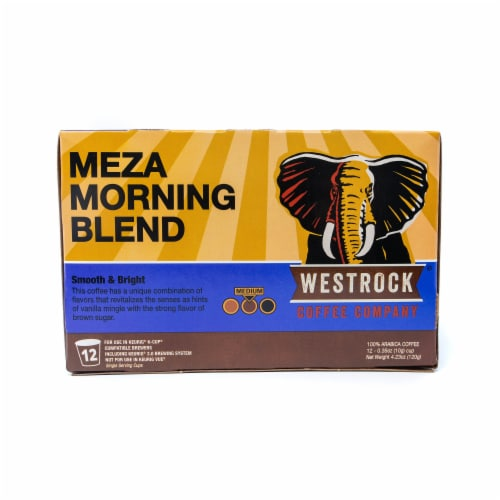 Westrock Coffee Meza Morning Blend Single Serve Cups 12 Count Perspective: front