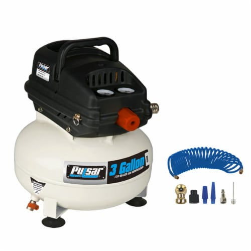 Pulsar 3-Gallon Self-Lubricating Air Compressor Perspective: front
