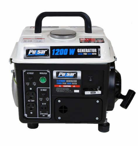 Pulsar 1200 Peak Watt 900 Running Watt Portable 2-Cycle Generator Perspective: front