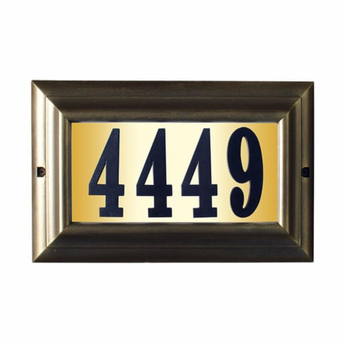 QualArc LTL-1301-FB-PN 15 in. Edgewood Large Do It Yourself Kit Lighted Address Plaque in Fre Perspective: front