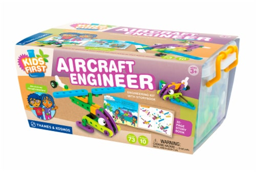 Thames & Kosmos Kids First Aircraft Engineer Building Set Perspective: front