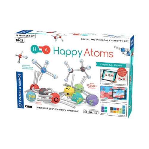 Thames & Kosmos Experiment Kit - Happy Atoms Complete Set - 50 Atoms Perspective: front