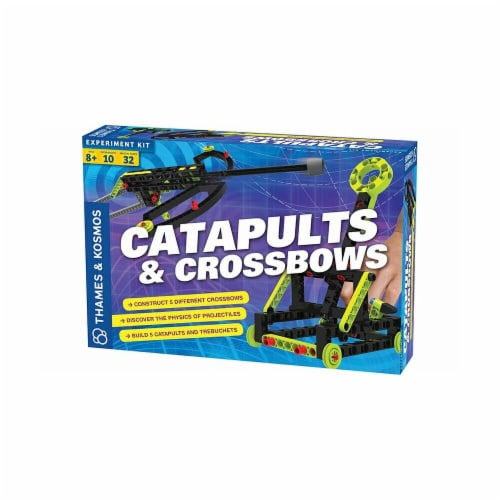 Thames & Kosmos 665107 Experiment Kit - Catapults & Crossbows Perspective: front