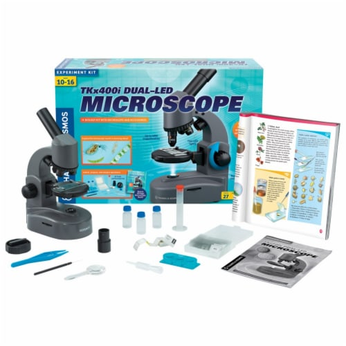 Thames & Kosmos Experiment Kit - TKx400i Dual-LED Microscope Perspective: front