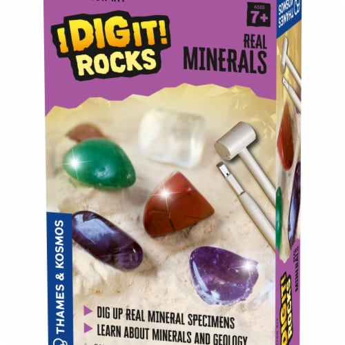 Thames & Kosmos I Dig It Rocks Real Minerals Excavation Kit Perspective: front