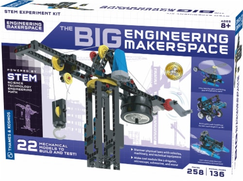 Thames & Kosmos The Big Engineering Makerspace Kit Perspective: front