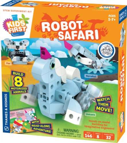 Thames & Kosmos Kids First Robot Safari Introduction to Motorized Machines Kit Perspective: front