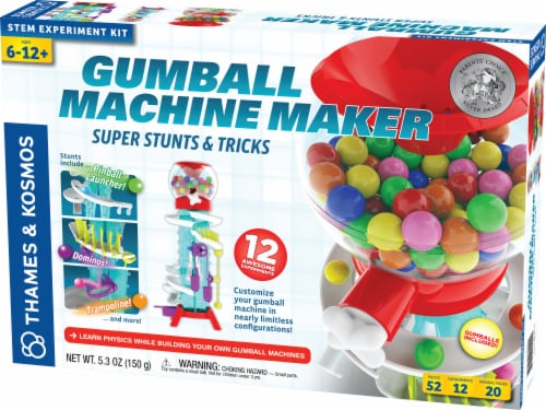 Thames & Kosmos Gumball Machine Maker Super Stunts and Tricks Kit Perspective: front