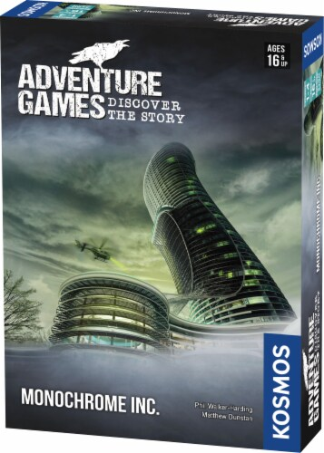 Thames & Kosmos Adventure Games: Monochrome, Inc. Board Game Perspective: front
