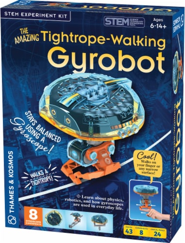 Thames & Kosmos The Amazing Tightrope-Walking Gyrobot Kit Perspective: front