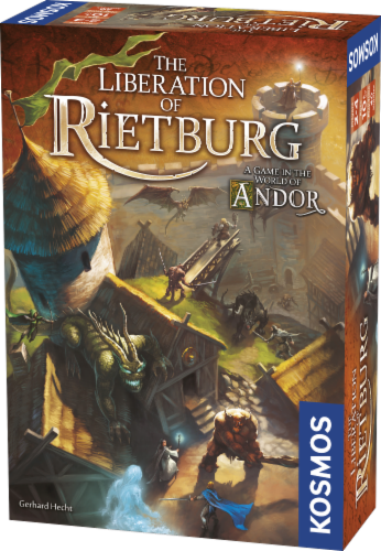 Thames & Kosmos Legends of Andor The Liberation of Rietburg Board Game Perspective: front