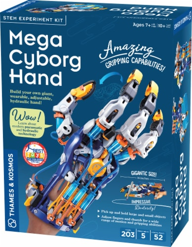 Thames & Kosmos Mega Cyborg Hand STEM Experiment Kit Perspective: front