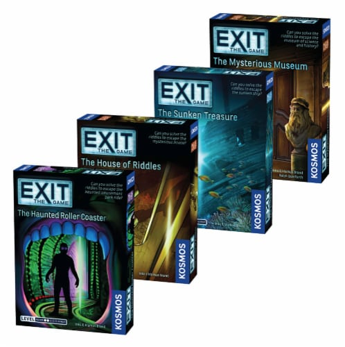 Thames & Kosmos EXIT: The Game Escape Room Beginner Bundle Board Game Collection Perspective: front