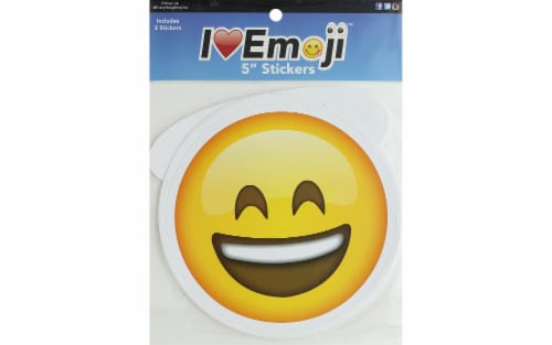 """Everything Emoji Laugh/Smile Stickers - 5"""" Perspective: front"""
