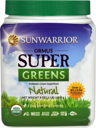 Sunwarrior  Ormus Super Greens Organic   Natural Perspective: front