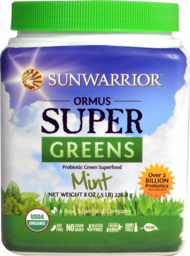 Sunwarrior  Ormus Super Greens Organic   Mint Perspective: front