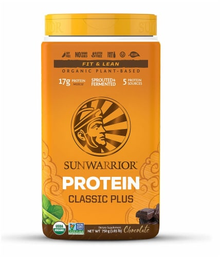 Sunwarrior  Classic PLUS Protein   Chocolate Perspective: front