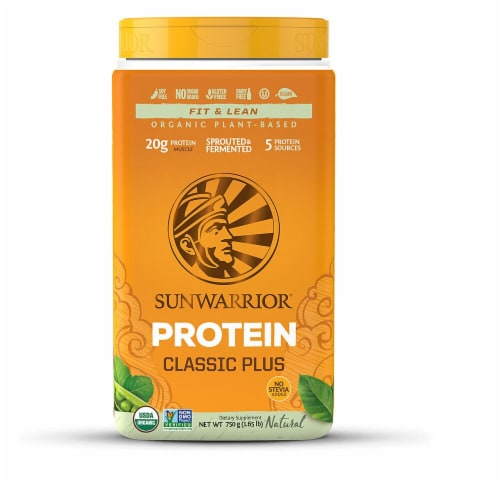 Sunwarrior  Classic PLUS Protein   Natural Perspective: front