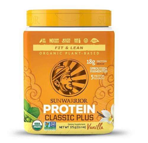 Sunwarrior  Classic PLUS Protein   Vanilla Perspective: front