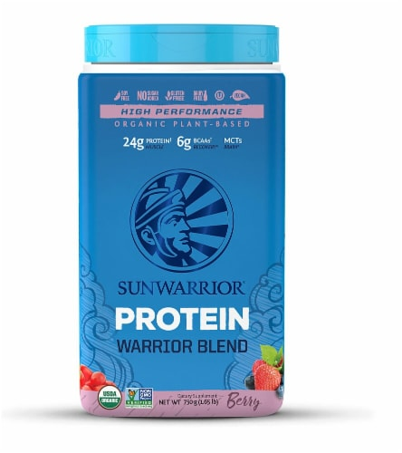 Sunwarrior  Warrior Blend Plant-Based Organic Protein   Berry Perspective: front