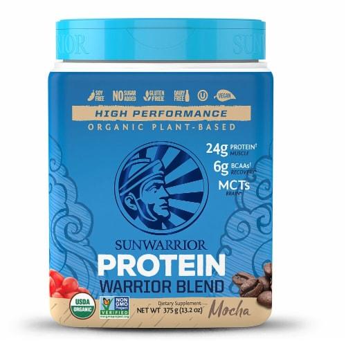 Sunwarrior  Warrior Blend Plant-Based Organic Protein   Mocha Perspective: front