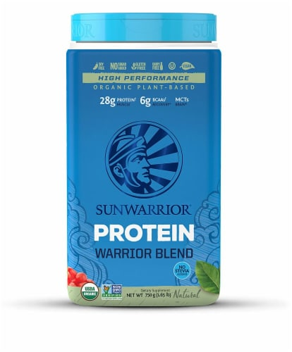 Sunwarrior  Warrior Blend Organic Plant-Based Protein   Natural Perspective: front