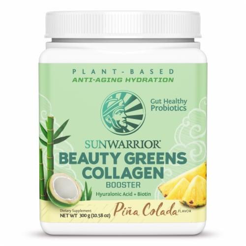 Sunwarrior Pina Colada Flavor Beauty Greens Collagen Booster Perspective: front