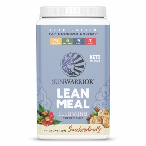 Sunwarrior Snickerdoodle Lean Meal Illumin8 Superfood Shake Perspective: front