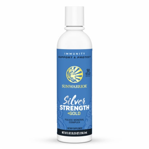 Sunwarrior Silver Strength + Gold Fulvic Mineral Complex Dietary Supplement Perspective: front