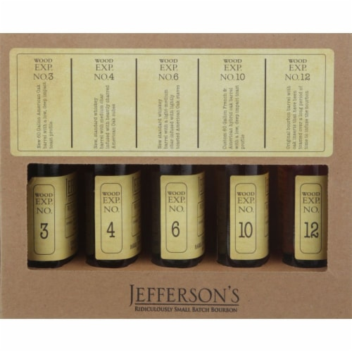 Jefferson's Wood Experiment Whiskey Boxed Set Perspective: front