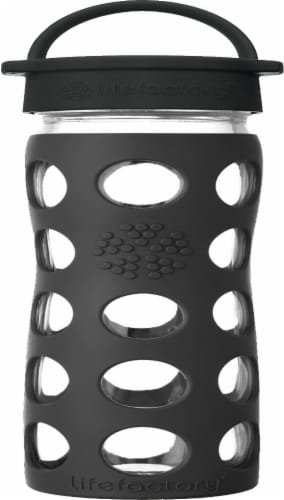 Lifefactory Hydration Glass Water Bottle - Onyx Perspective: front