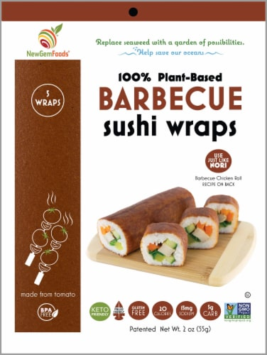 NewGem Foods Barbecue Sushi Wraps Perspective: front