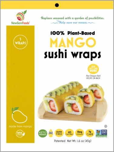 NewGem Foods Mango Sushi Wraps Perspective: front