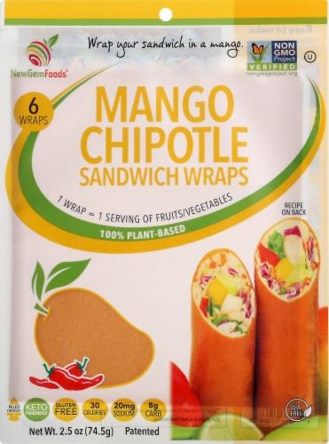 NewGem Foods GemWraps Mango Chipotle Wraps Perspective: front