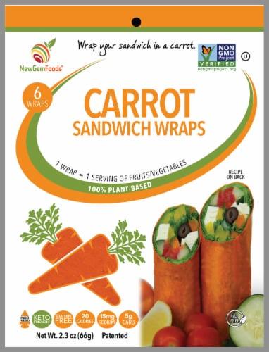 NewGem Foods Carrot Sandwich Wraps Perspective: front