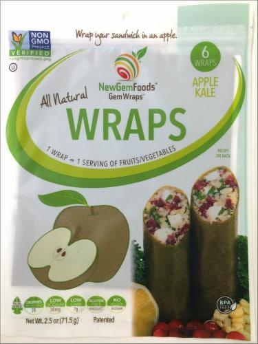 NewGem Foods GemWraps Apple Kale Wraps Perspective: front