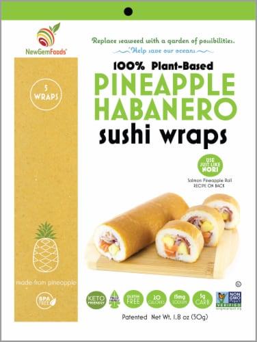 NewGem Foods Pineapple Habanero Sushi Wraps Perspective: front