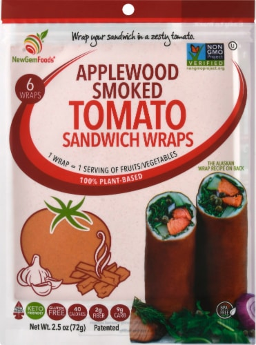 NewGem Foods Applewood Smoked Tomato Sandwich Wraps Perspective: front