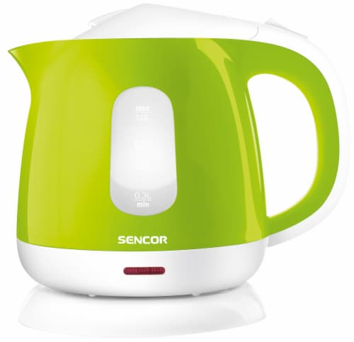 Sencor Small Electric Kettle - Green/White Perspective: front