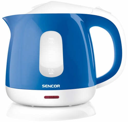 Sencor Small Electric Kettle - Blue/White Perspective: front