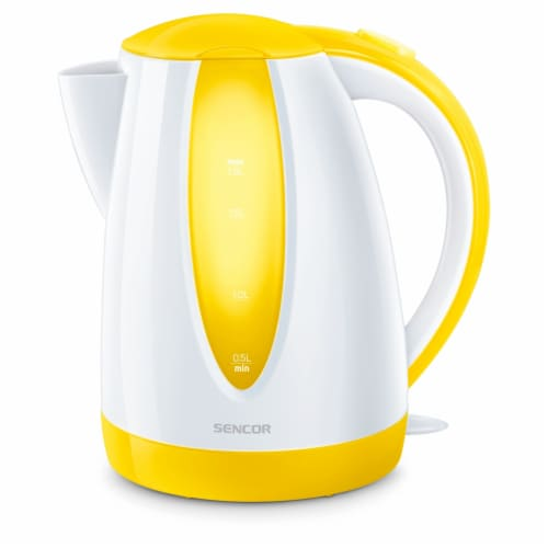 Sencor Simple Electric Kettle - Yellow/White Perspective: front