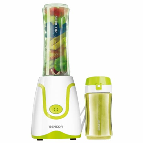 Sencor Smoothie Blender & Bottles - White/Green Perspective: front