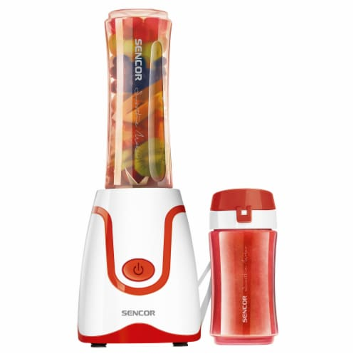 Sencor Smoothie Blender & Bottles - White/Red Perspective: front