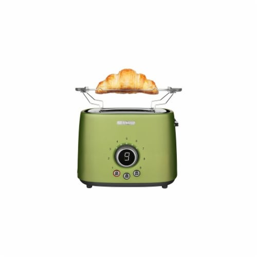 Sencor 2-Slot Toaster with Digital Button and Rack - Light Green Perspective: front