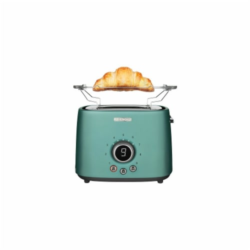 Sencor 2-Slot Toaster with Digital Button and Rack - Green Perspective: front