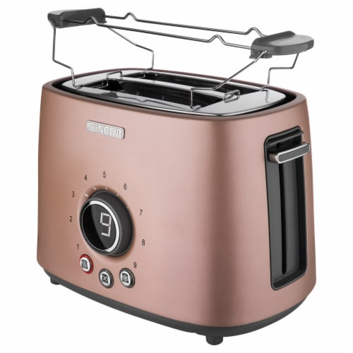 Sencor 2-Slot Toaster with Digital Button and Rack - Pink Perspective: front