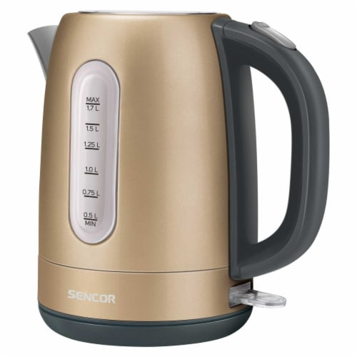 Sencor Stainless Electric Kettle - Champagne Perspective: front